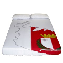 Malta Country Europe Flag Borders Fitted Sheet (king Size)
