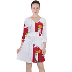 Malta Country Europe Flag Borders Ruffle Dress