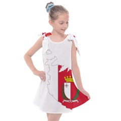 Malta Country Europe Flag Borders Kids  Tie Up Tunic Dress