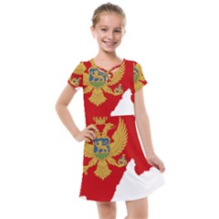 Montenegro Country Europe Flag Kids  Cross Web Dress