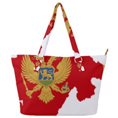 Montenegro Country Europe Flag Full Print Shoulder Bag