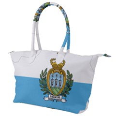 San Marino Country Europe Flag Canvas Shoulder Bag