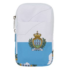 San Marino Country Europe Flag Waist Pouch (large)