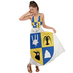 Coat Of Arms Of The French Southern And Antarctic Lands Backless Maxi Beach Dress