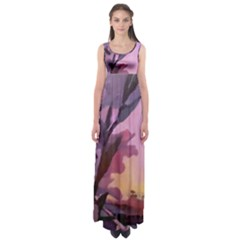 Pinkfloral Haute Waist Maxi Dress