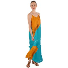 Banana Beach 2 Cami Maxi Ruffle Chiffon Dress