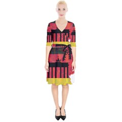 Republic Germany Deutschland Map Wrap Up Cocktail Dress