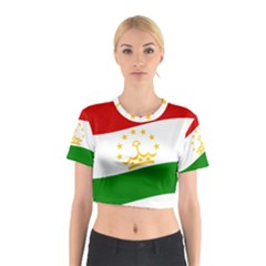 Flag Iran Tajikistan Afghanistan Cotton Crop Top