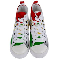 Flag Iran Tajikistan Afghanistan Women s Mid Top Canvas Sneakers