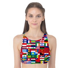 Flags Countries International Tank Bikini Top