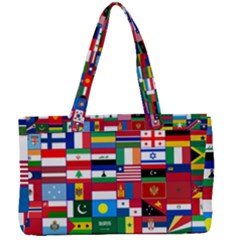 Flags Countries International Canvas Work Bag by Sapixe