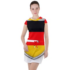 Flag German Germany Country Symbol Drawstring Hooded Dress