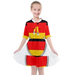 Flag German Germany Country Symbol Kids  All Frills Chiffon Dress