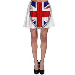 Flag Union Jack Uk British Symbol Skater Skirt