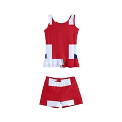 Flag Union Jack Uk British Symbol Kids  Boyleg Swimsuit