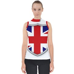 Flag Union Jack Uk British Symbol Mock Neck Shell Top