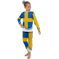 Flag Sweden Country Swedish Symbol Kids  Long Sleeve Set  by Sapixe