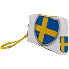 Flag Sweden Country Swedish Symbol Wristlet Pouch Bag (small) by Sapixe