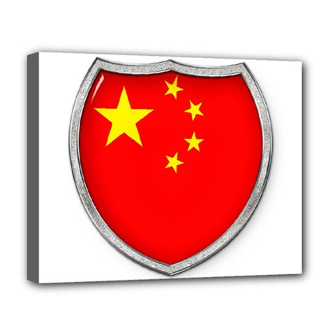 Flag China Country Nation Asia Deluxe Canvas 20  X 16  (stretched) by Sapixe
