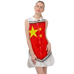 Flag China Country Nation Asia Sleeveless Shirt Dress