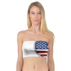 Flag Usa America American National Bandeau Top by Sapixe