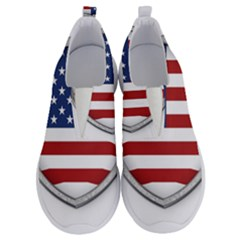 Flag Usa America American National No Lace Lightweight Shoes by Sapixe