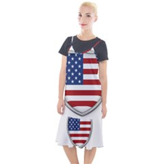 Flag Usa America American National Camis Fishtail Dress