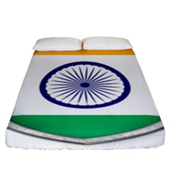 Flag India Nation Country Banner Fitted Sheet (king Size)