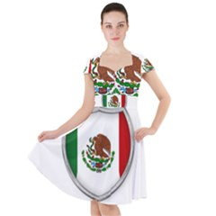 Flag Mexico Country National Cap Sleeve Midi Dress