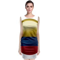 Colombia Flag Country National Sleeveless Velvet Midi Dress