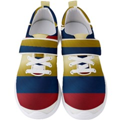 Colombia Flag Country National Men s Velcro Strap Shoes by Sapixe