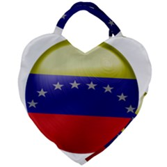 Venezuela Flag Country Nation Giant Heart Shaped Tote by Sapixe