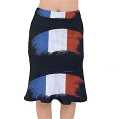 Flag France Flags French Country Short Mermaid Skirt