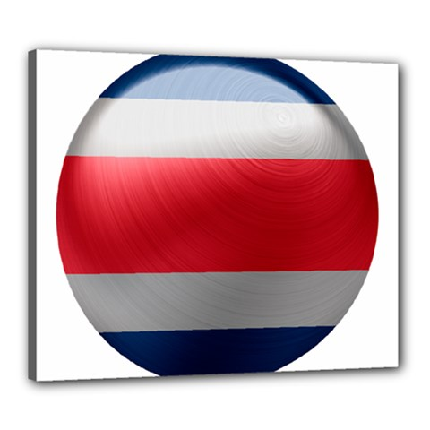 Costa Rica Flag Country Symbol Canvas 24  X 20  (stretched)