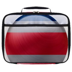 Costa Rica Flag Country Symbol Full Print Lunch Bag
