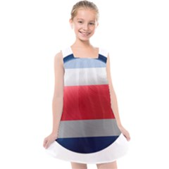 Costa Rica Flag Country Symbol Kids  Cross Back Dress