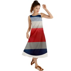Costa Rica Flag Country Symbol Summer Maxi Dress