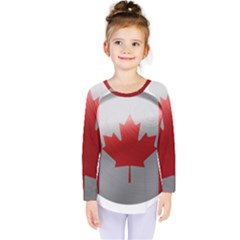 Canada Flag Country Symbol Nation Kids  Long Sleeve Tee by Sapixe