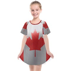 Canada Flag Country Symbol Nation Kids  Smock Dress by Sapixe