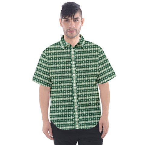 Deep Forest Men s Short Sleeve Shirt by plaides