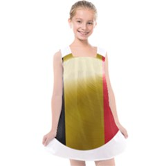 Belgium Flag Country Europe Kids  Cross Back Dress by Sapixe
