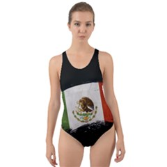 Flag Mexico Country National Cut Out Back One Piece Swimsuit