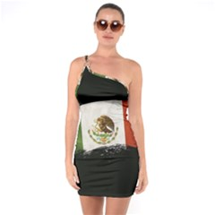 Flag Mexico Country National One Soulder Bodycon Dress