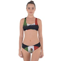Flag Mexico Country National Criss Cross Bikini Set