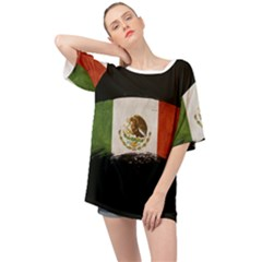 Flag Mexico Country National Oversized Chiffon Top