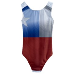 Chile Flag Country Chilean Kids  Cut Out Back One Piece Swimsuit