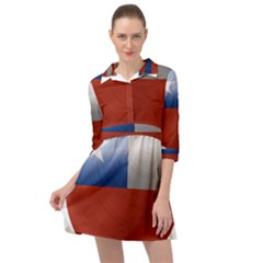 Chile Flag Country Chilean Mini Skater Shirt Dress by Sapixe