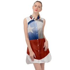 Chile Flag Country Chilean Sleeveless Shirt Dress