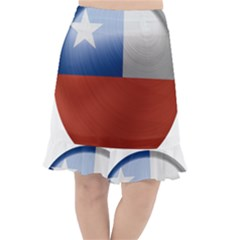 Chile Flag Country Chilean Fishtail Chiffon Skirt