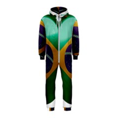 Brazil Flag Country Symbol Hooded Jumpsuit (kids)